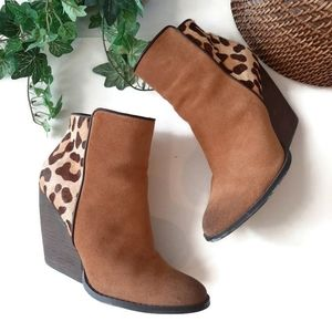 Very Volatile calf hair/leather brown booties